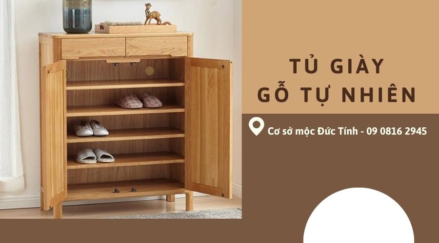 tủ giày thông minh bằng gỗ tự nhiên