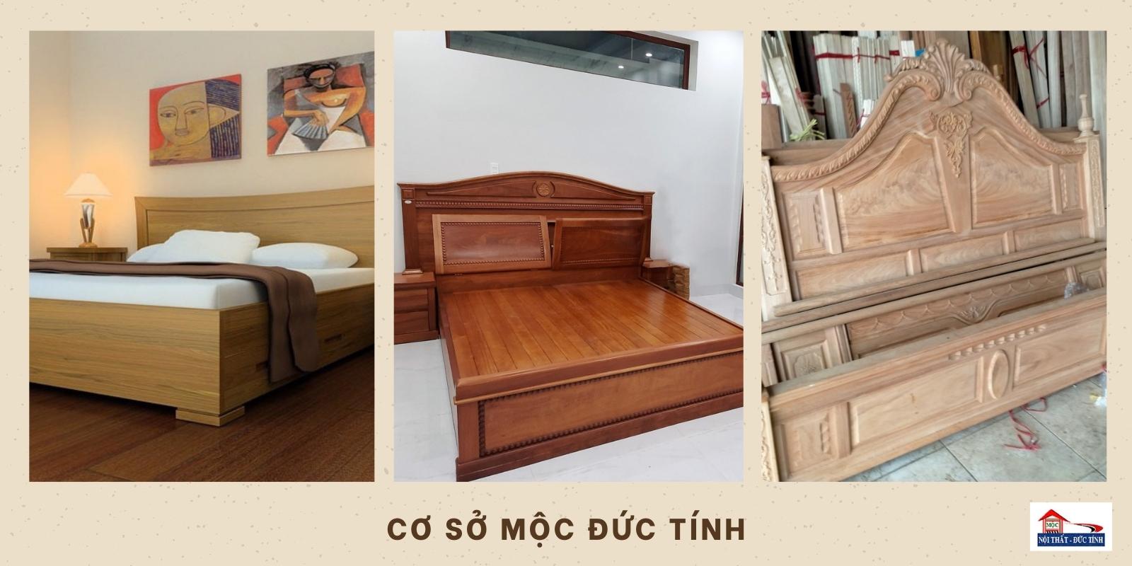 giường gỗ giá rẻ Đức Tính