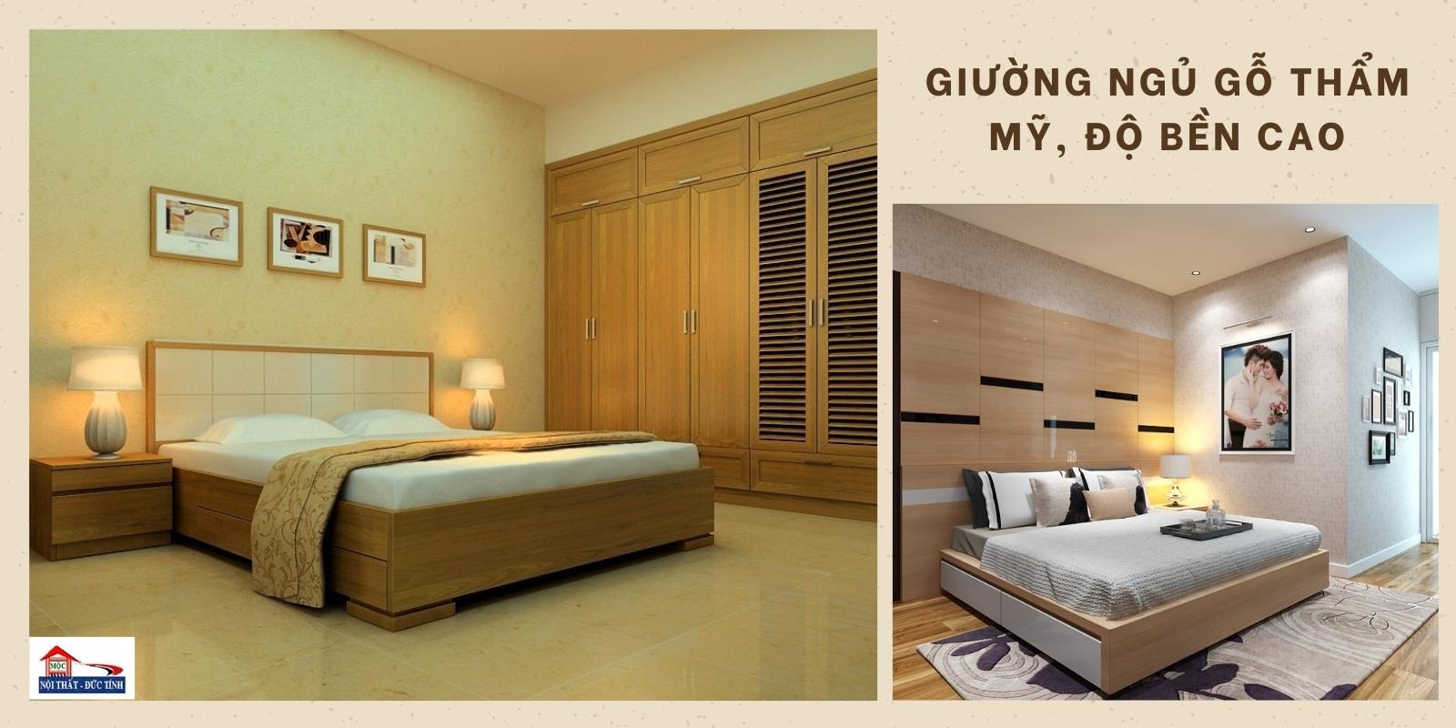 giường ngủ gỗ có độ bền cao