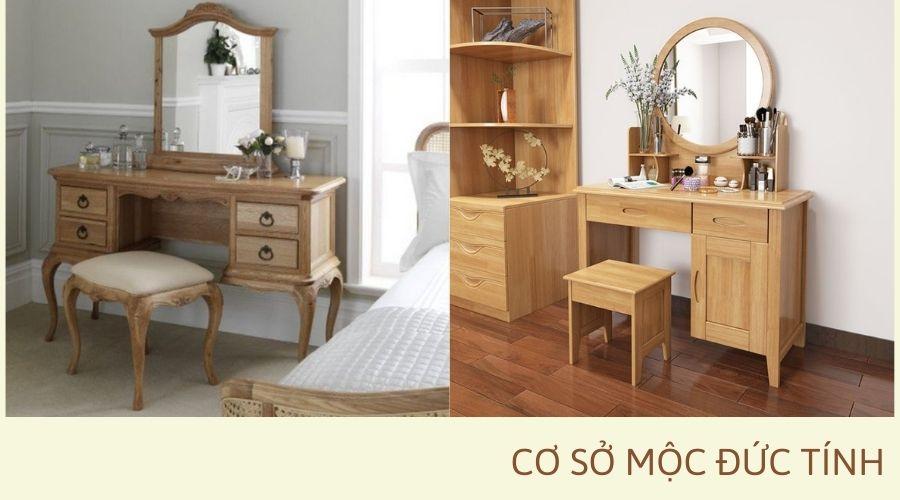 bàn trang điểm bằng gỗ giá rẻ